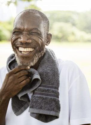 An older black man.