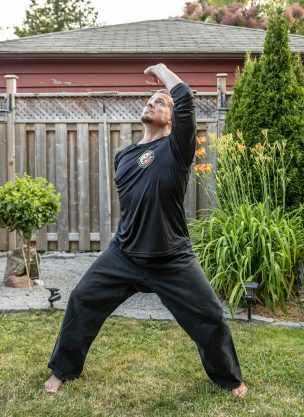 Bodhi doing Qigong Exercises For Better Vision.