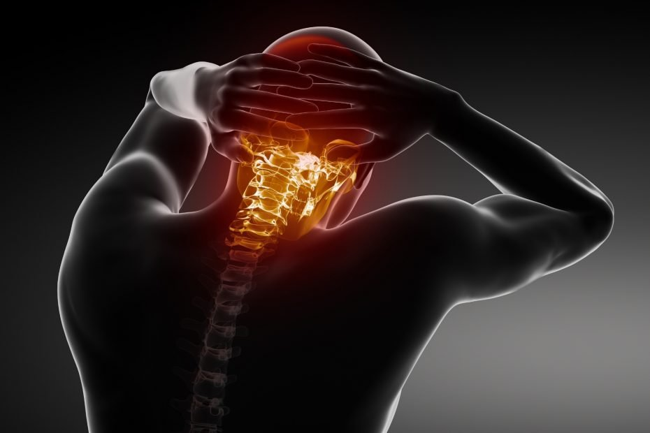 Pain in cervical spine part.